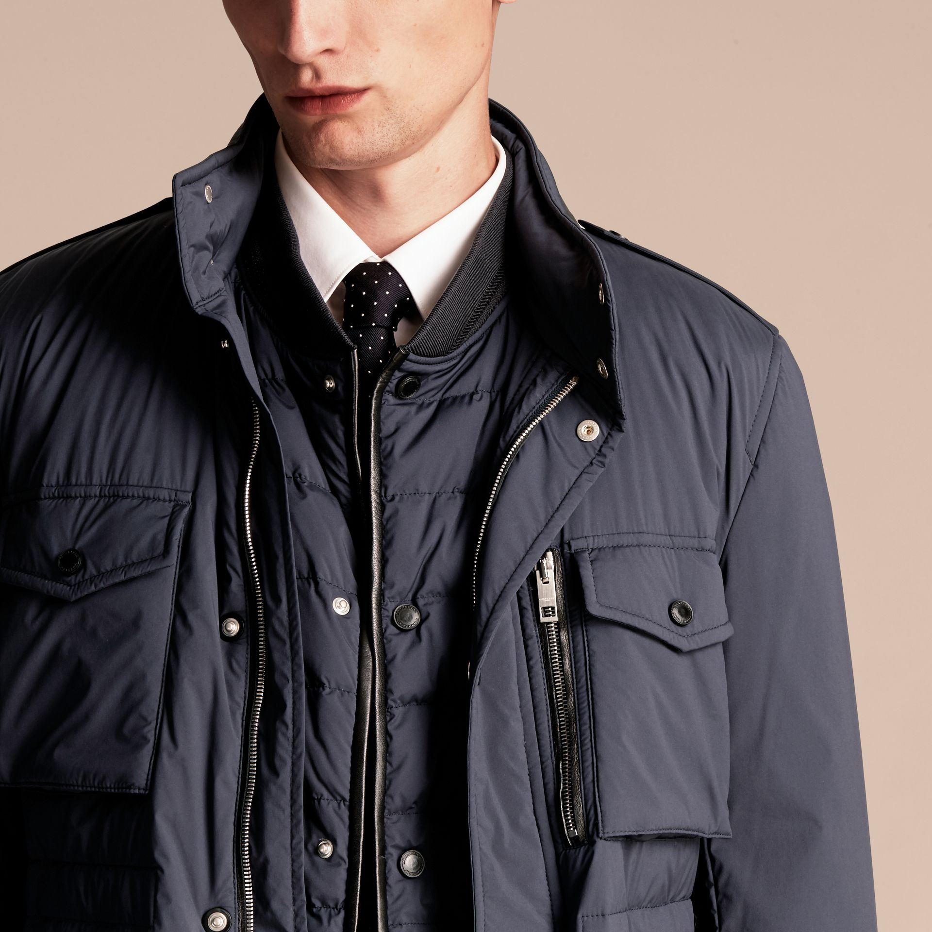 Navy Lightweight Field Jacket with Detachable Gilet - gallery image 6