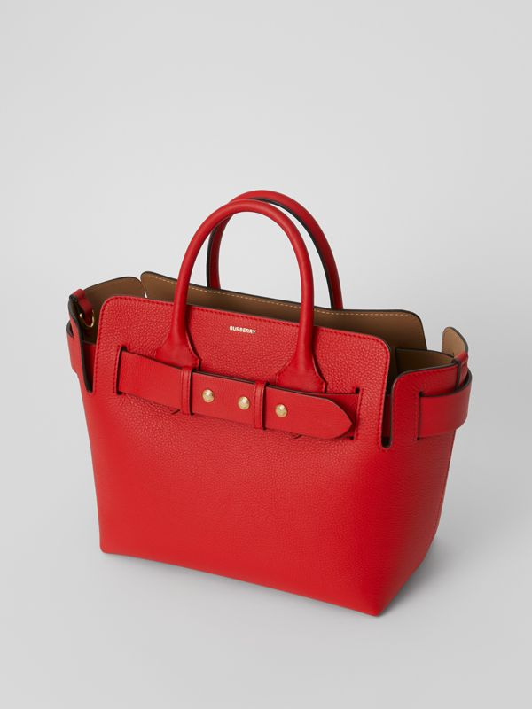 The Small Leather Triple Stud Belt Bag in Bright Military Red - Women | Burberry United States - cell image 3