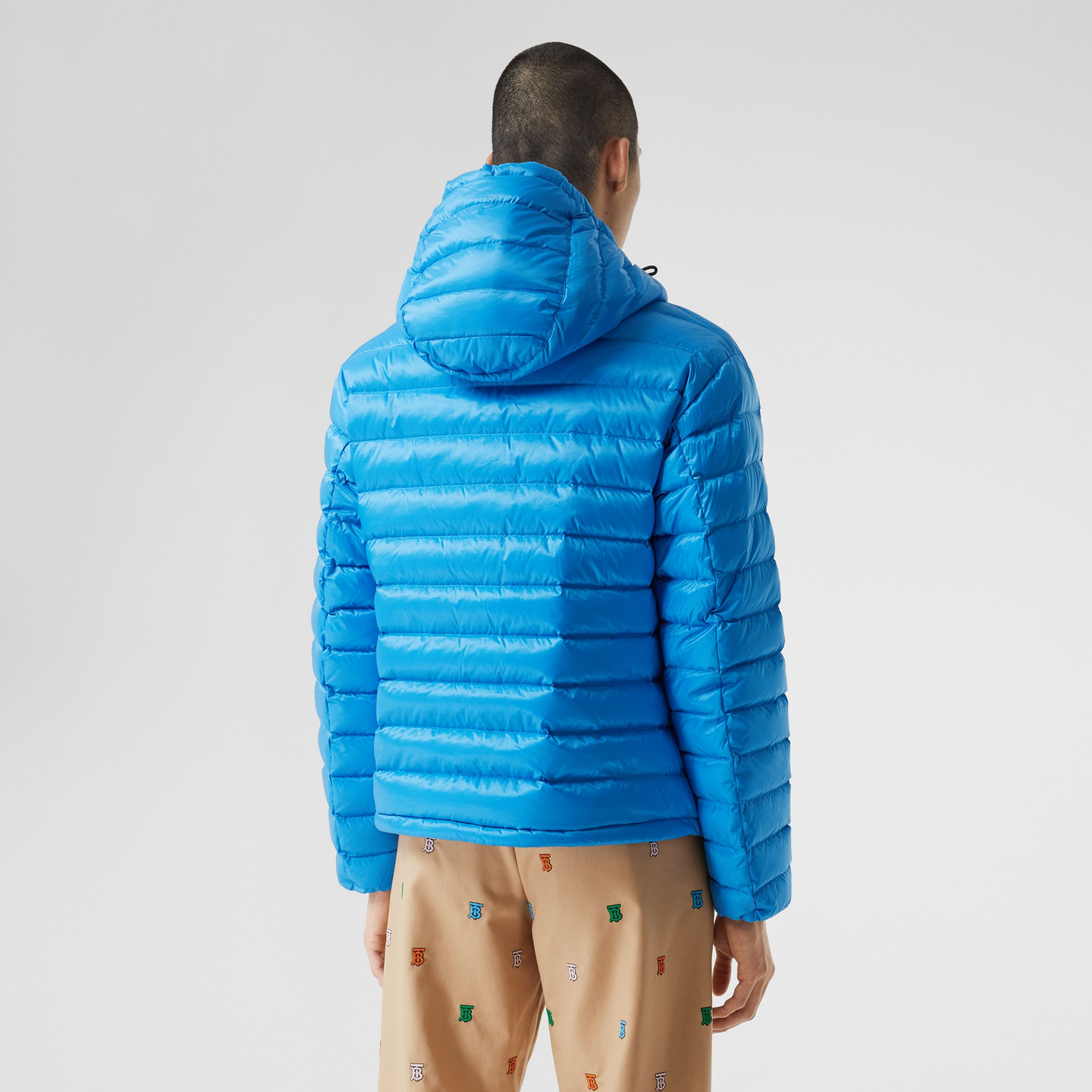 Logo Appliqué Hooded Puffer Jacket | Burberry - 3