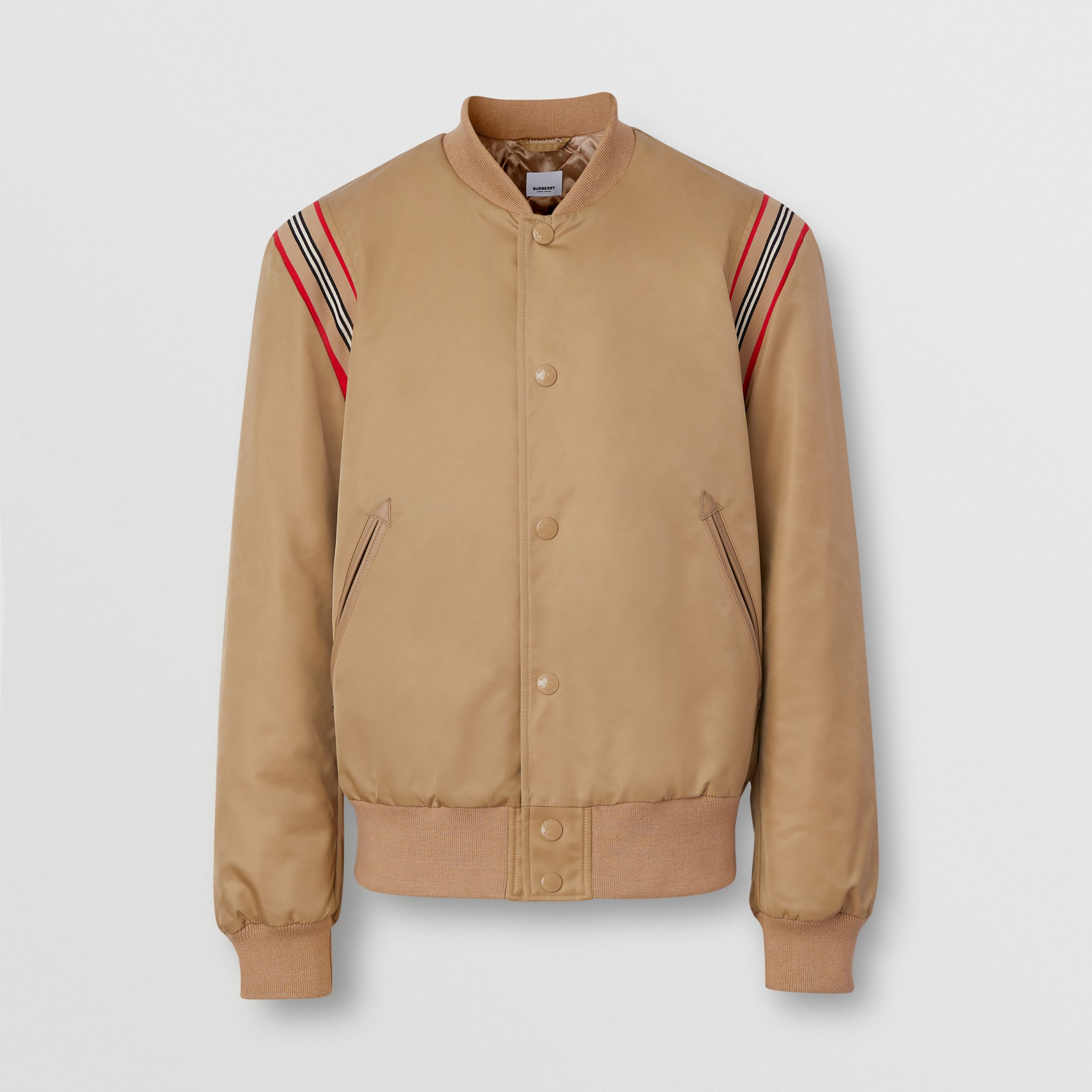 Icon Stripe Trim Twill Bomber Jacket - Men | Burberry - 4