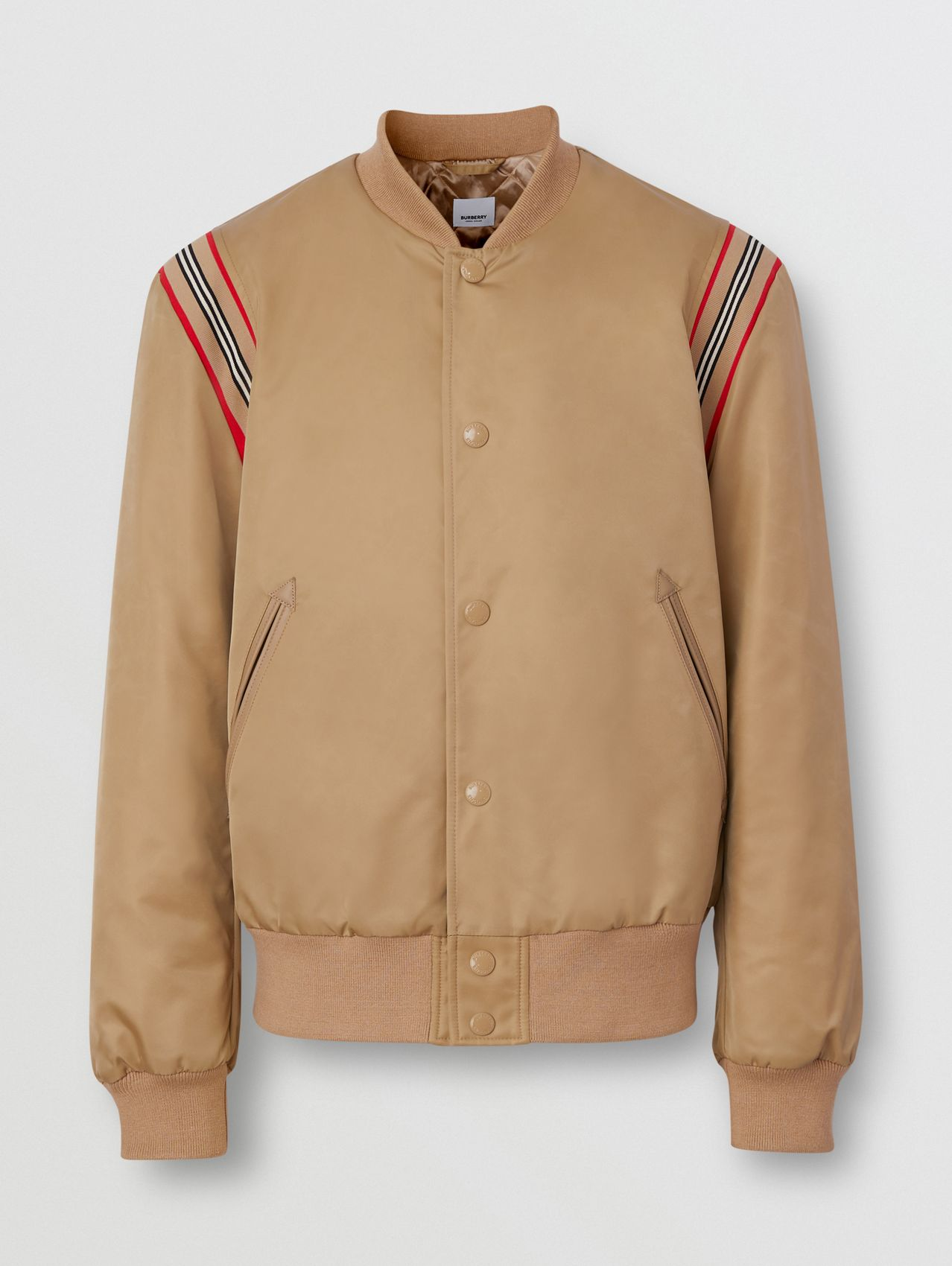 Icon Stripe Trim Twill Bomber Jacket