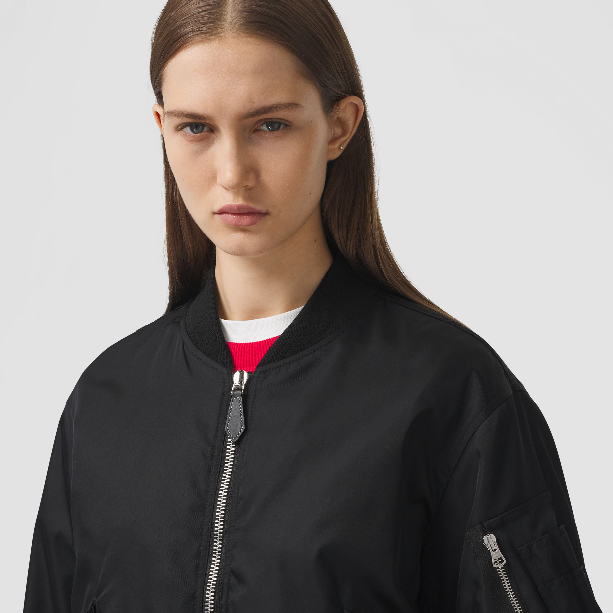 Love Print ECONYL® Bomber Jacket in Black - Women | Burberry Australia - 2