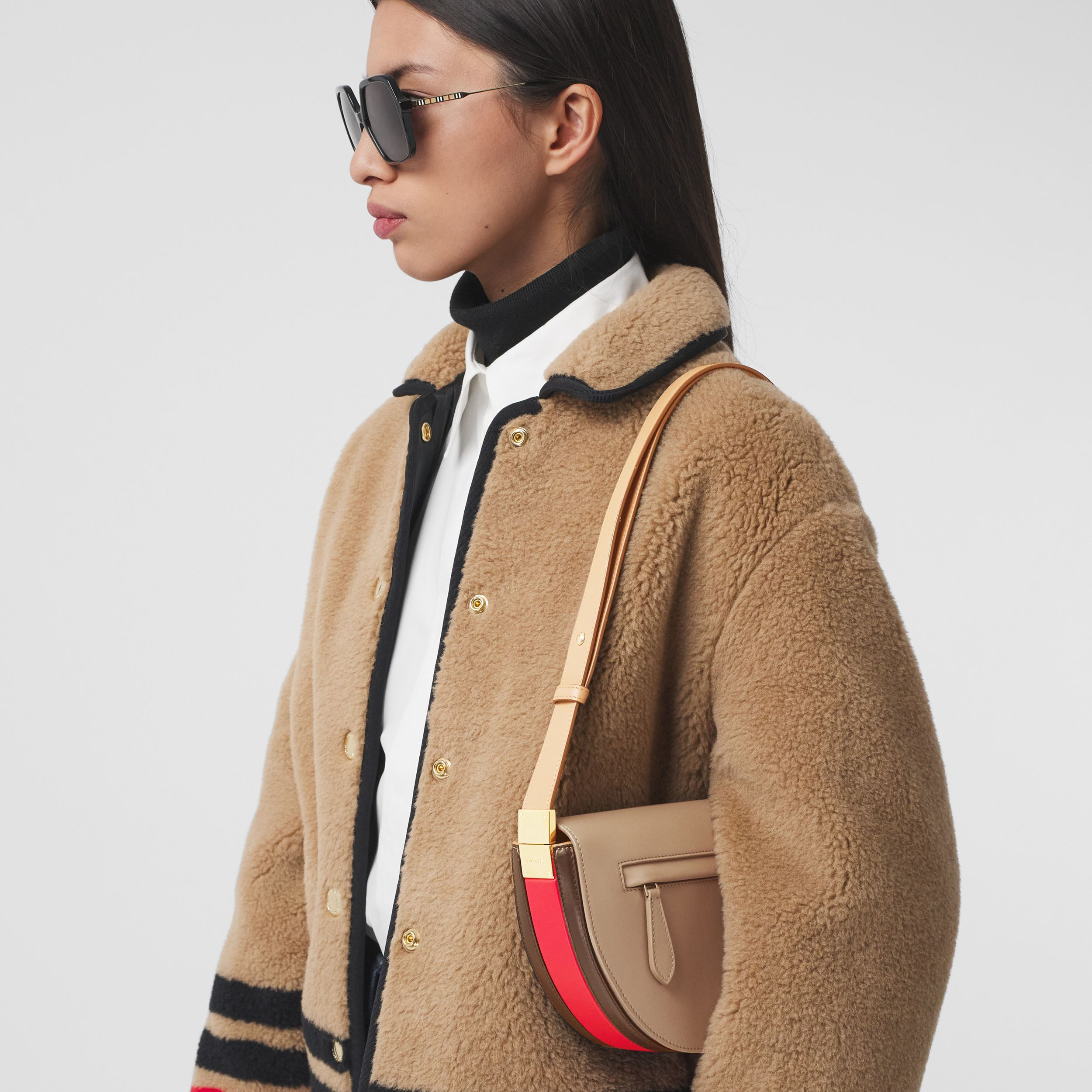 Small Leather Olympia Bag in Camel - Women | Burberry United Kingdom - 3