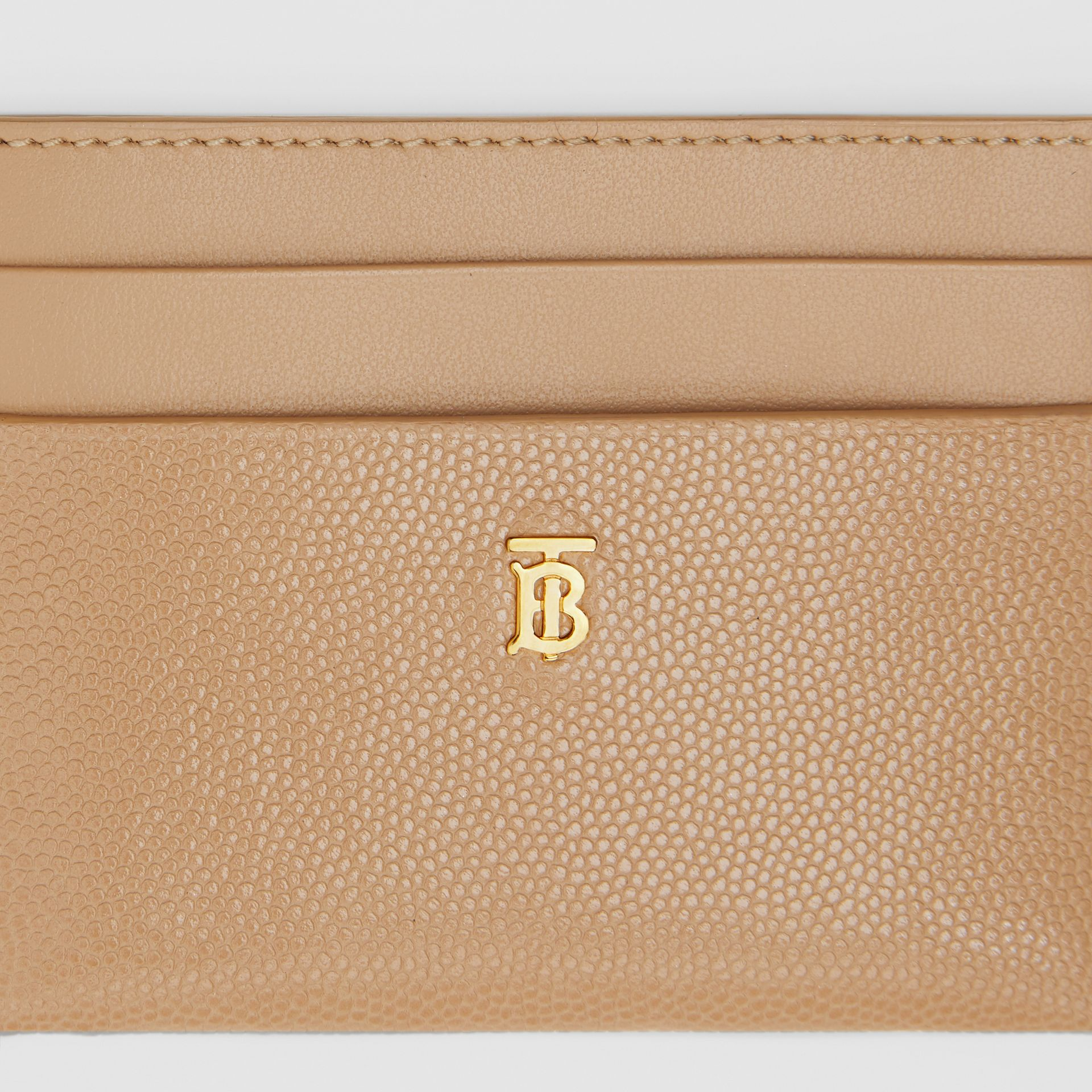 Monogram Motif Leather Card Case in Archive Beige - Women | Burberry - gallery image 1