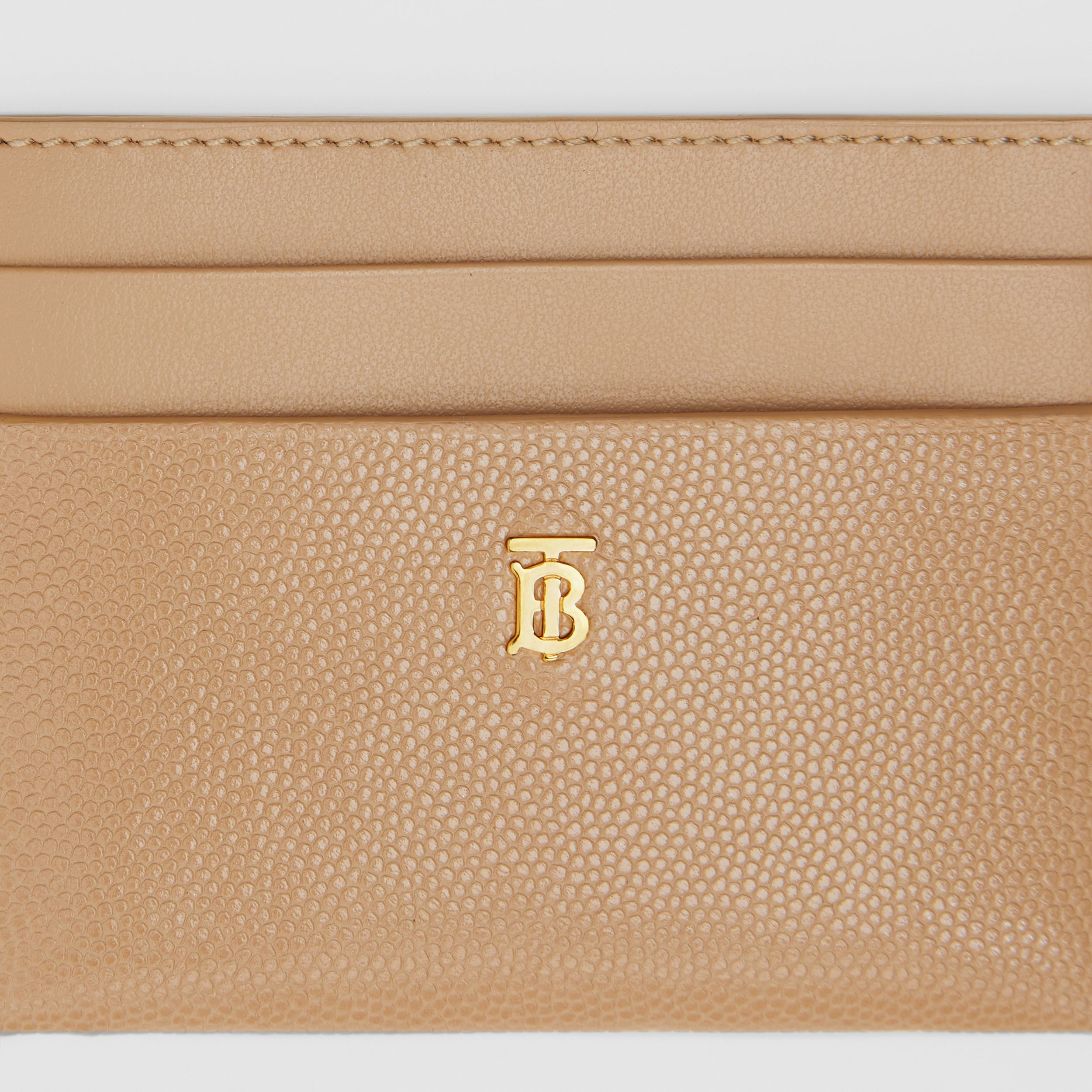 Monogram Motif Leather Card Case in Archive Beige - Women | Burberry Australia - 2