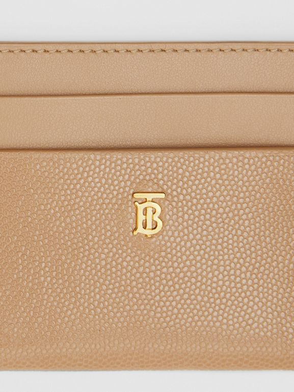 Monogram Motif Leather Card Case in Archive Beige - Women | Burberry - cell image 1
