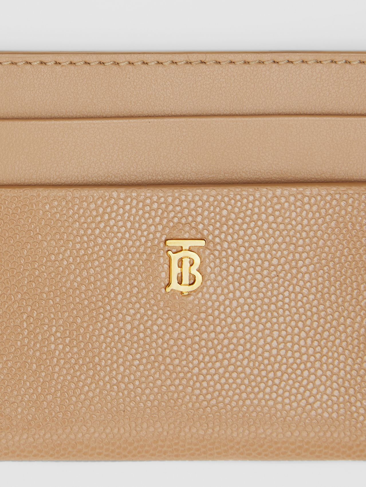 Porte-cartes en cuir Monogram in Beige D'archive