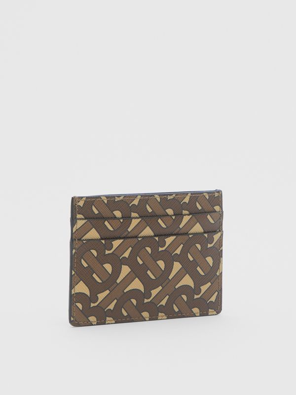 Monogram Print E-canvas Card Case in Bridle Brown | Burberry United Kingdom - cell image 3