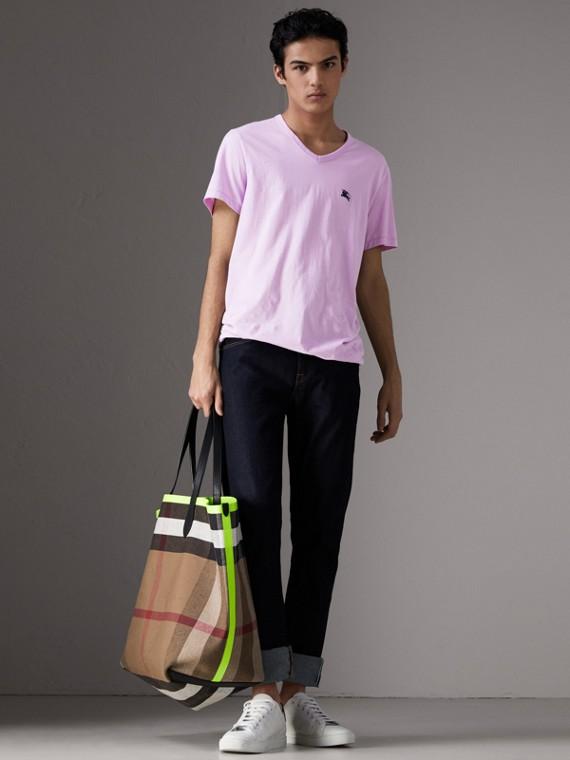 Cotton Jersey T-shirt in Pale Fuchsia