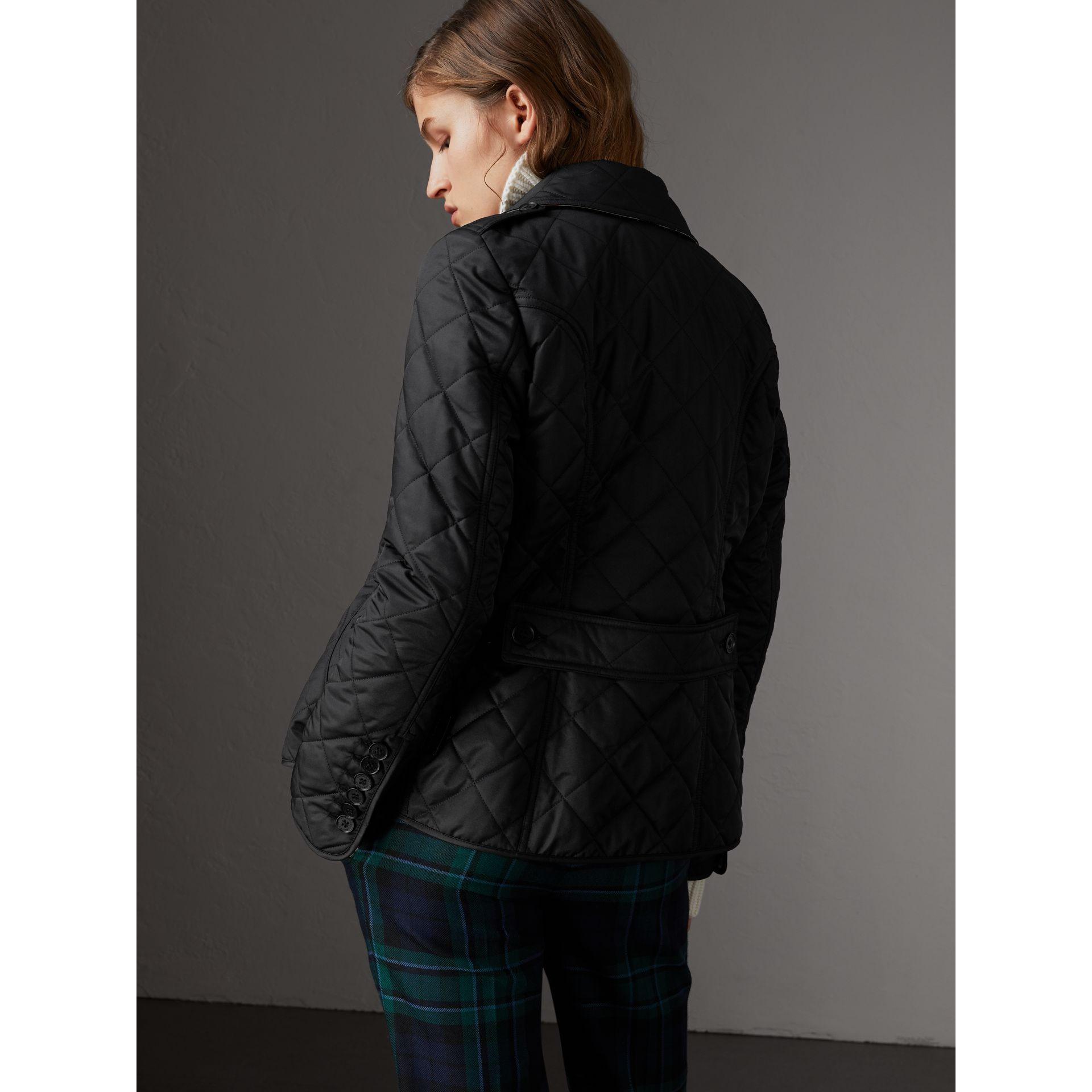 Diamond Quilted Jacket in Black - Women | Burberry Australia - gallery image 2