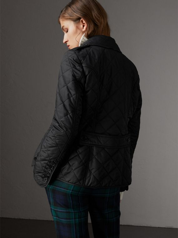 Diamond Quilted Jacket in Black - Women | Burberry Hong Kong - cell image 2