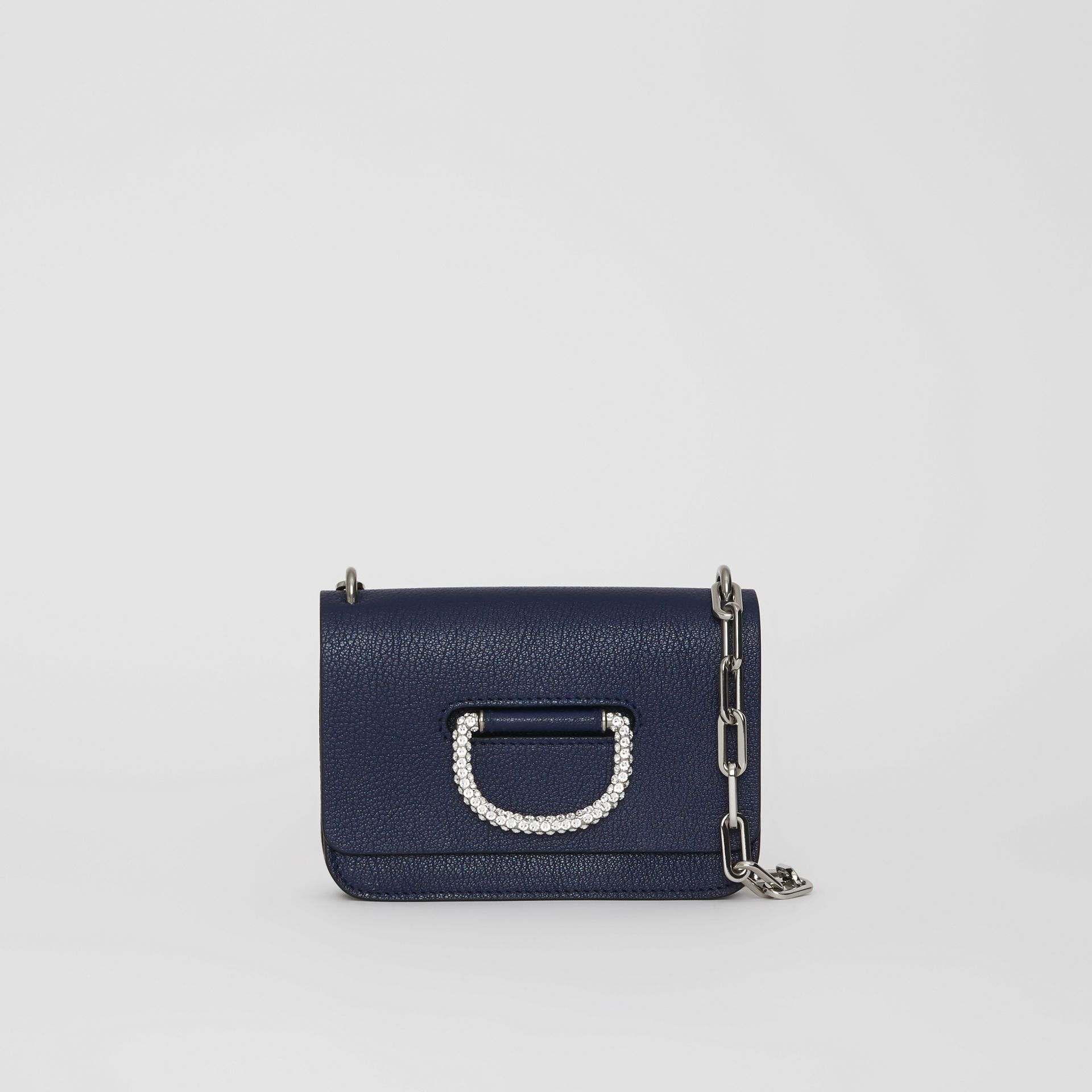 The Mini Leather Crystal D-ring Bag in Regency Blue - Women | Burberry - gallery image 0