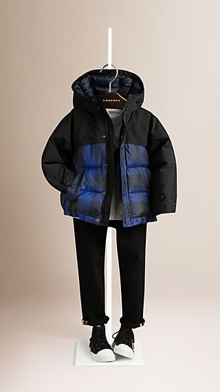 Check Down-filled Puffer Jacket