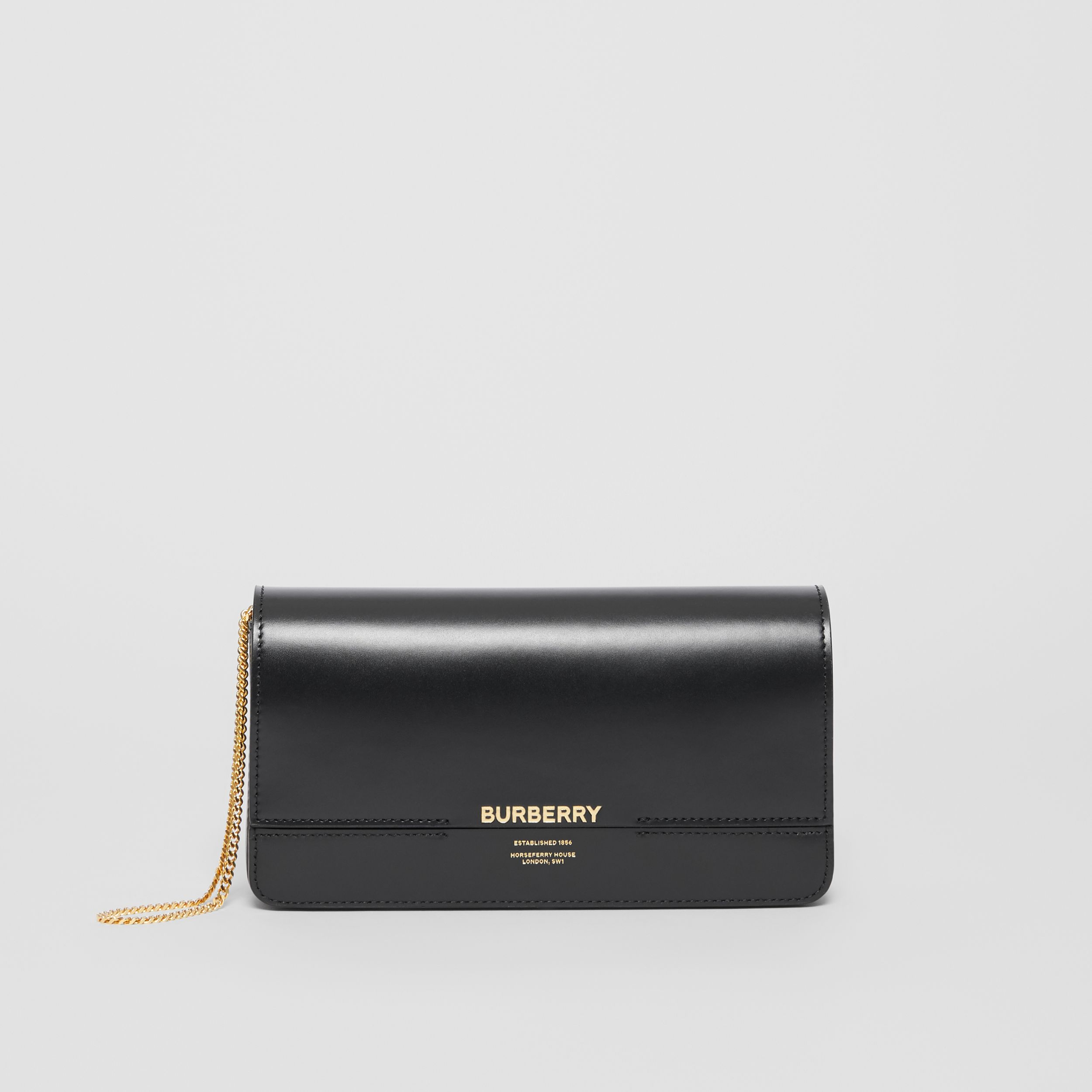 Leather Grace Clutch in Black - Women | Burberry - 1