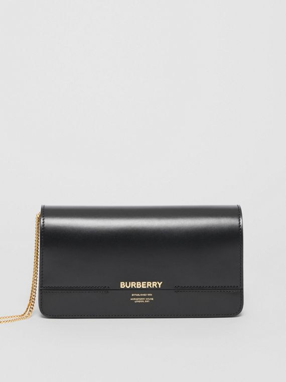 Leather Grace Clutch in Black