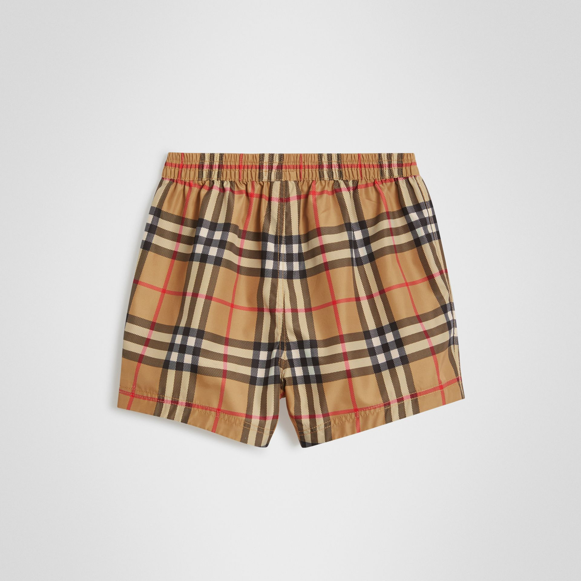 Check Swim Shorts in Antique Yellow - Children | Burberry United Kingdom - gallery image 3