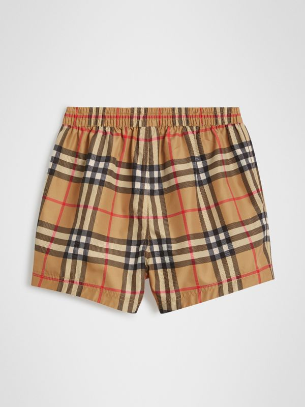 Check Swim Shorts in Antique Yellow - Children | Burberry United Kingdom - cell image 3