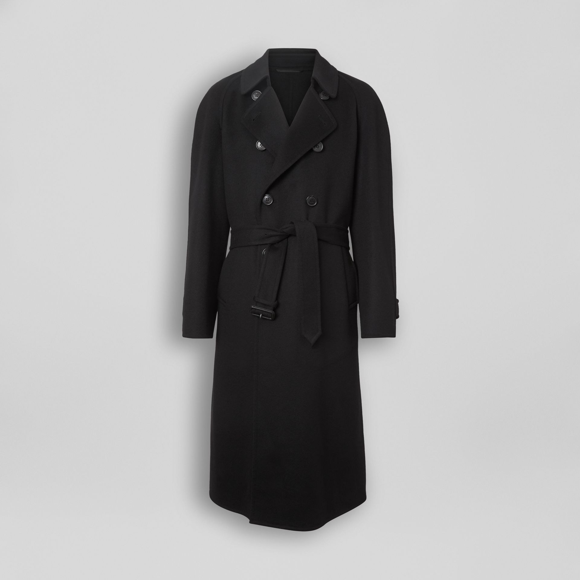 Double-faced Cashmere Trench Coat in Black - Men | Burberry Canada - gallery image 3