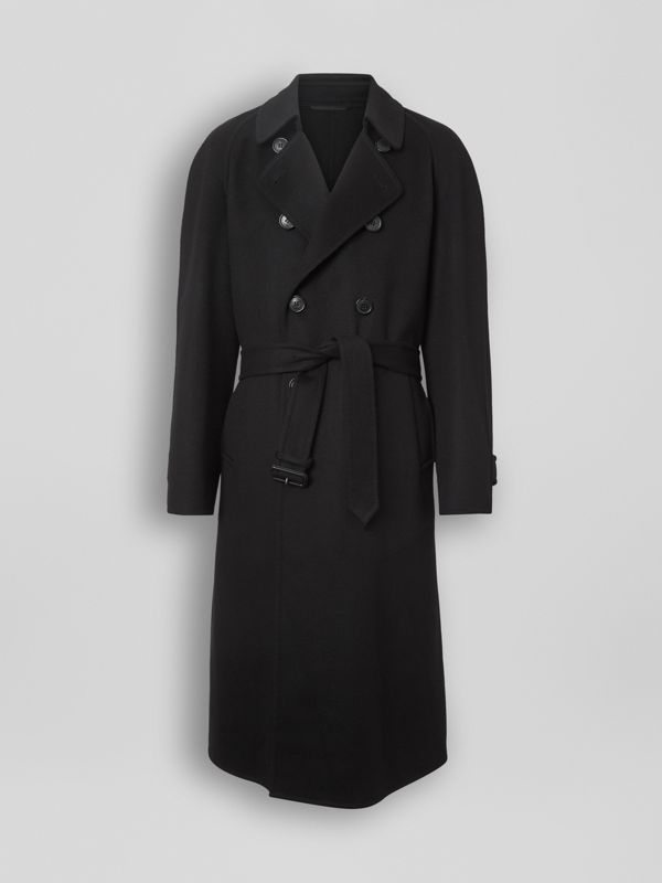 Double-faced Cashmere Trench Coat in Black - Men | Burberry Singapore - cell image 3