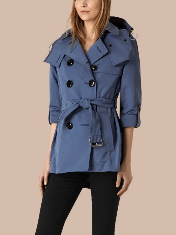 Pale lupin blue Showerproof Trench Coat with Detachable Hood Pale Lupin Blue - cell image 2