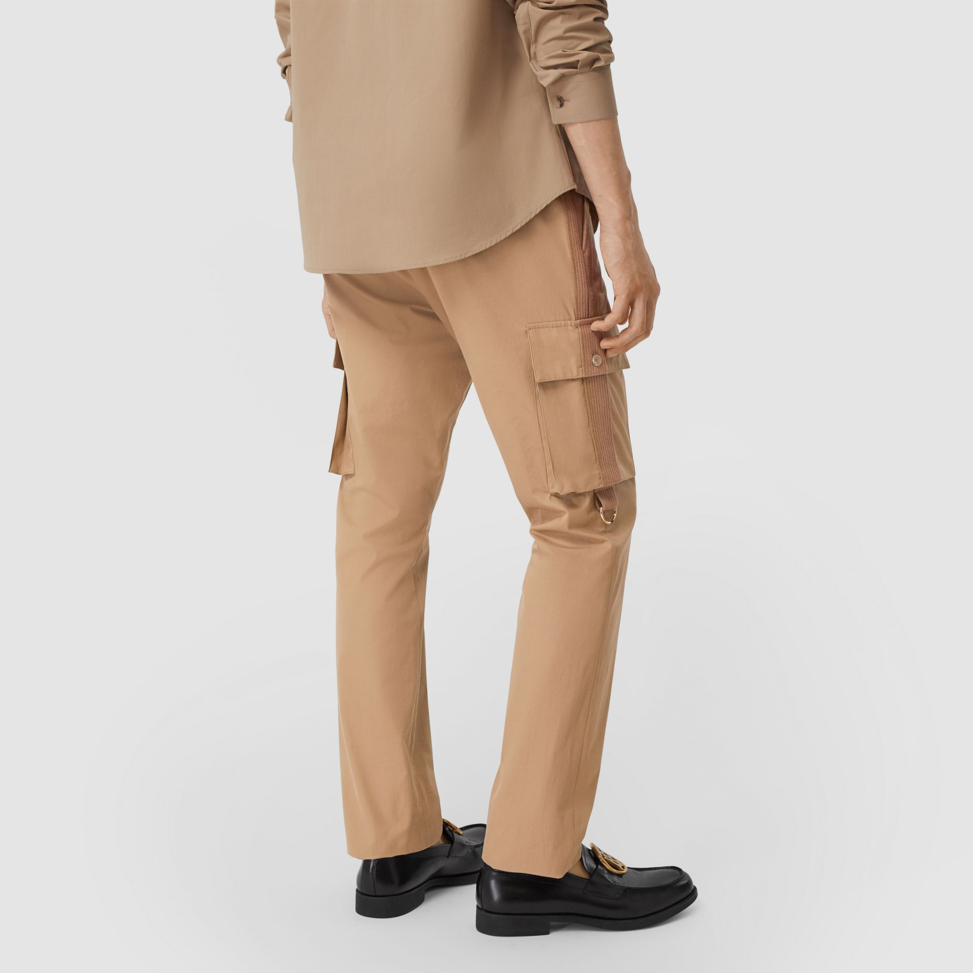 Cotton Twill Cargo Trousers in Pale Coffee - Men | Burberry - gallery image 2