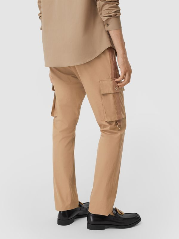 Cotton Twill Cargo Trousers in Pale Coffee - Men | Burberry - cell image 2