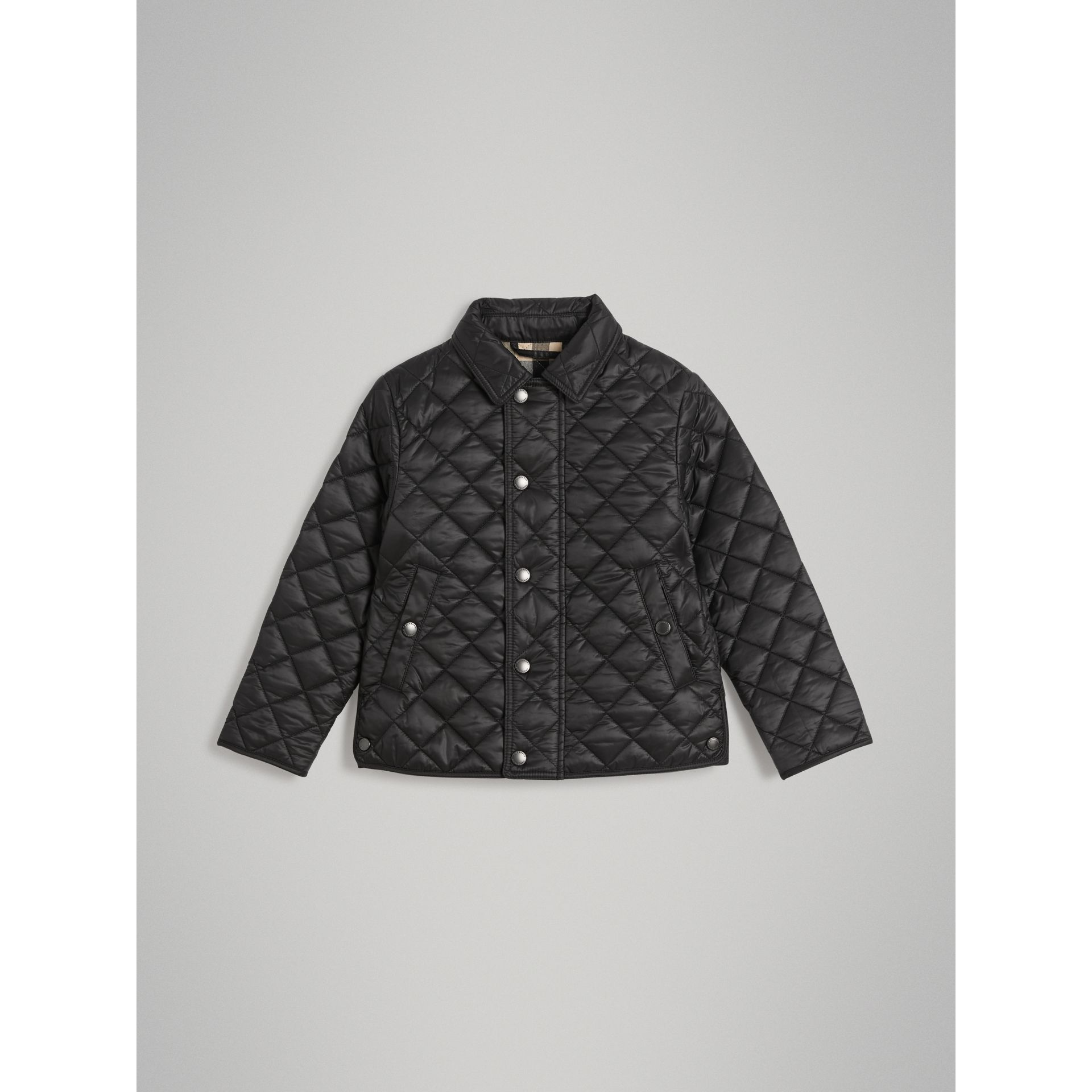 Diamond Quilted Jacket in Black - Boy | Burberry - gallery image 0