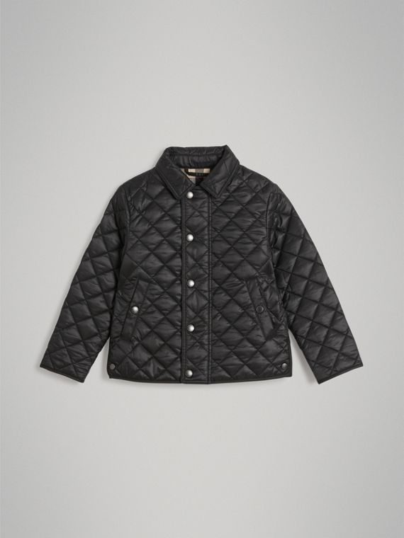 Diamond Quilted Jacket in Black