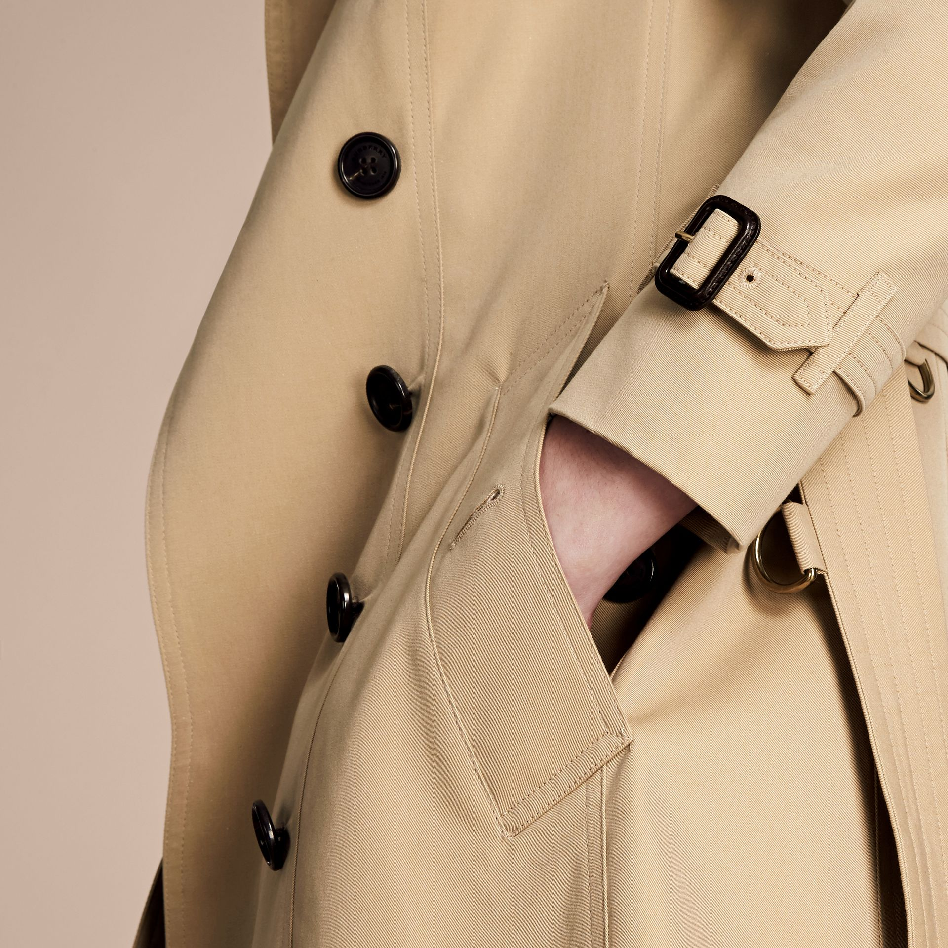 Honey The Chelsea – Long Heritage Trench Coat Honey - gallery image 6