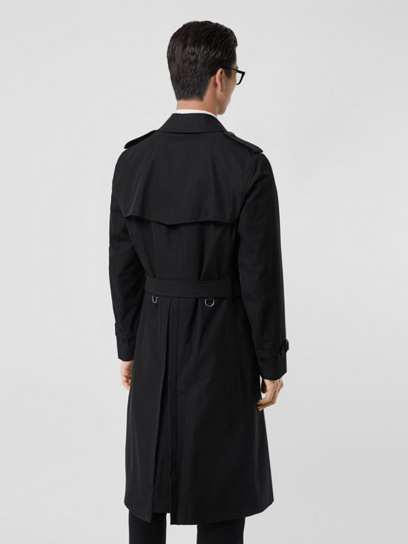 The Long Chelsea Heritage Trench Coat in Black - Men | Burberry United Kingdom - cell image 1
