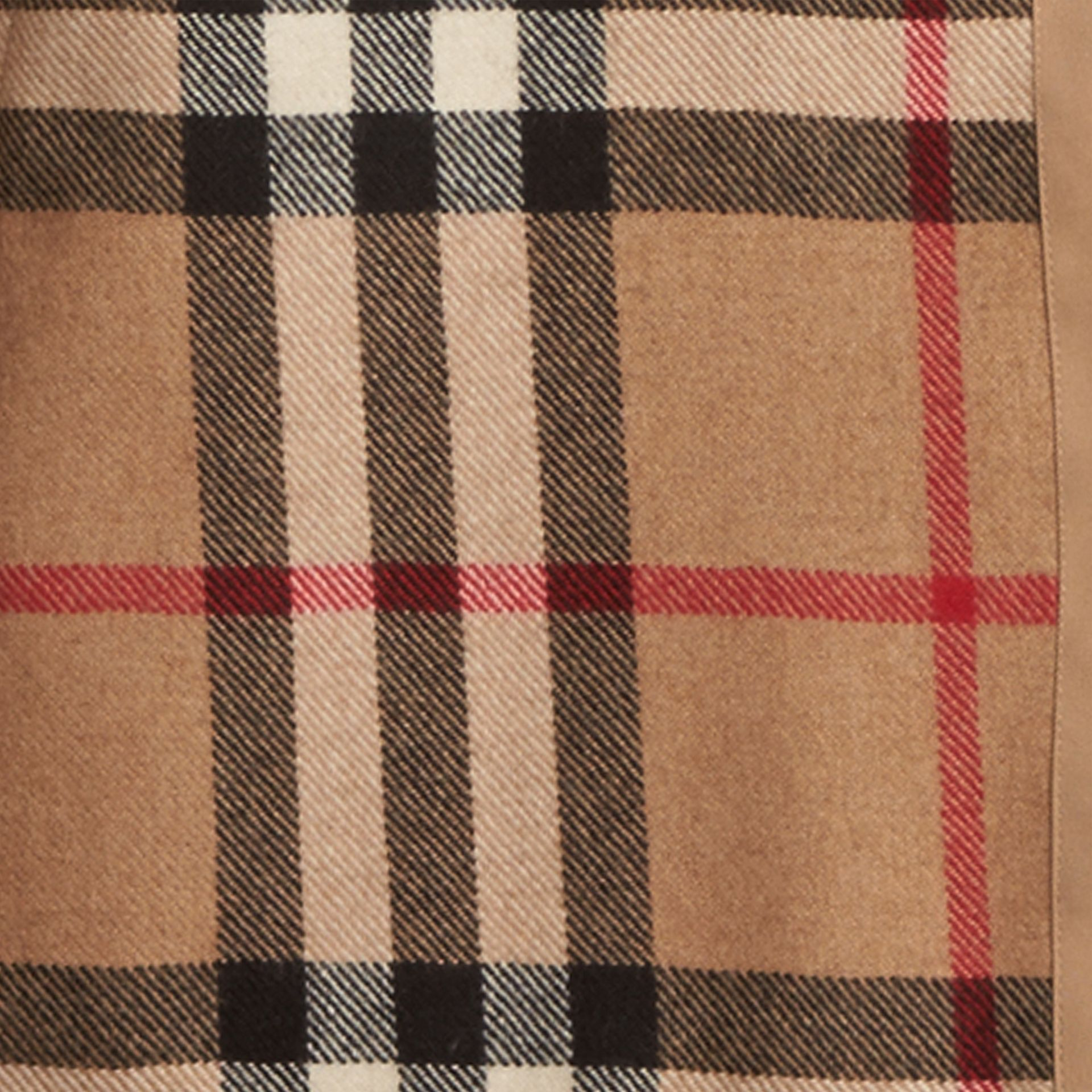 Kensington and Wiltshire-fit House Check Cashmere Wool Warmer in Camel - Men | Burberry Hong Kong - gallery image 2