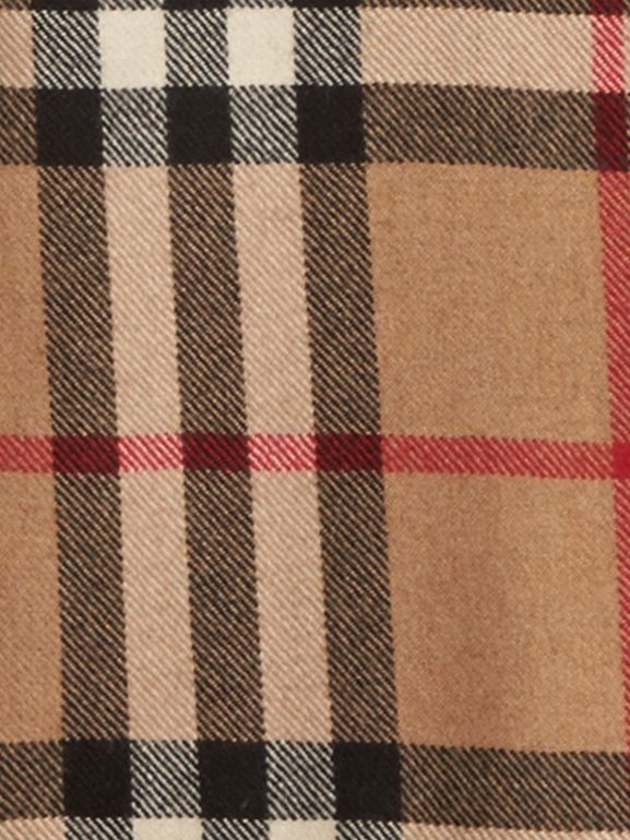 Kensington and Wiltshire Fit House Check Cashmere Wool Warmer in Camel - Men | Burberry - cell image 1