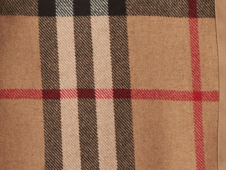 Kensington and Wiltshire-fit House Check Cashmere Wool Warmer in Camel - Men | Burberry - cell image 1