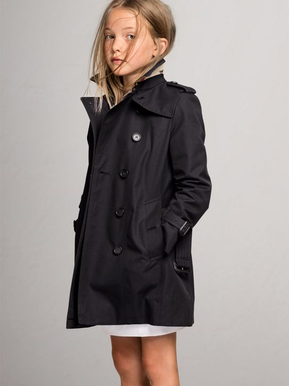 The Sandringham Trench Coat in Navy - Girl | Burberry United Kingdom - cell image 2