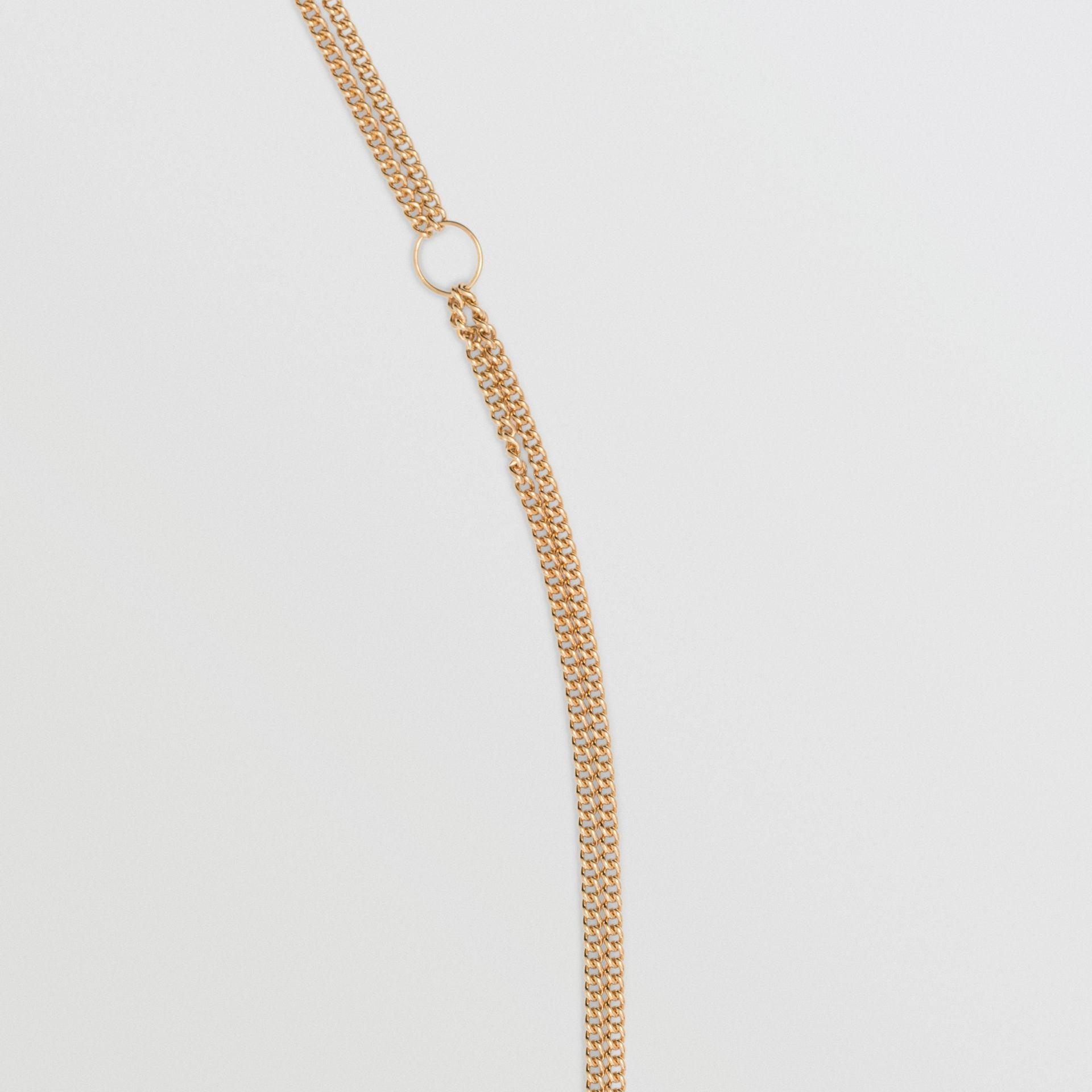 Heart and Marbled Resin Charm Chain Necklace in Light Gold - Women | Burberry - gallery image 1
