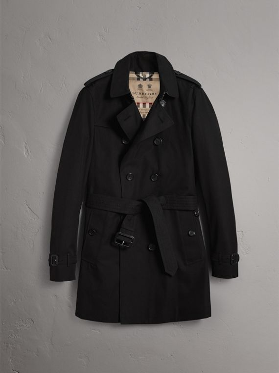 The Chelsea – Mid-length Heritage Trench Coat in Black - Men | Burberry Hong Kong - cell image 3