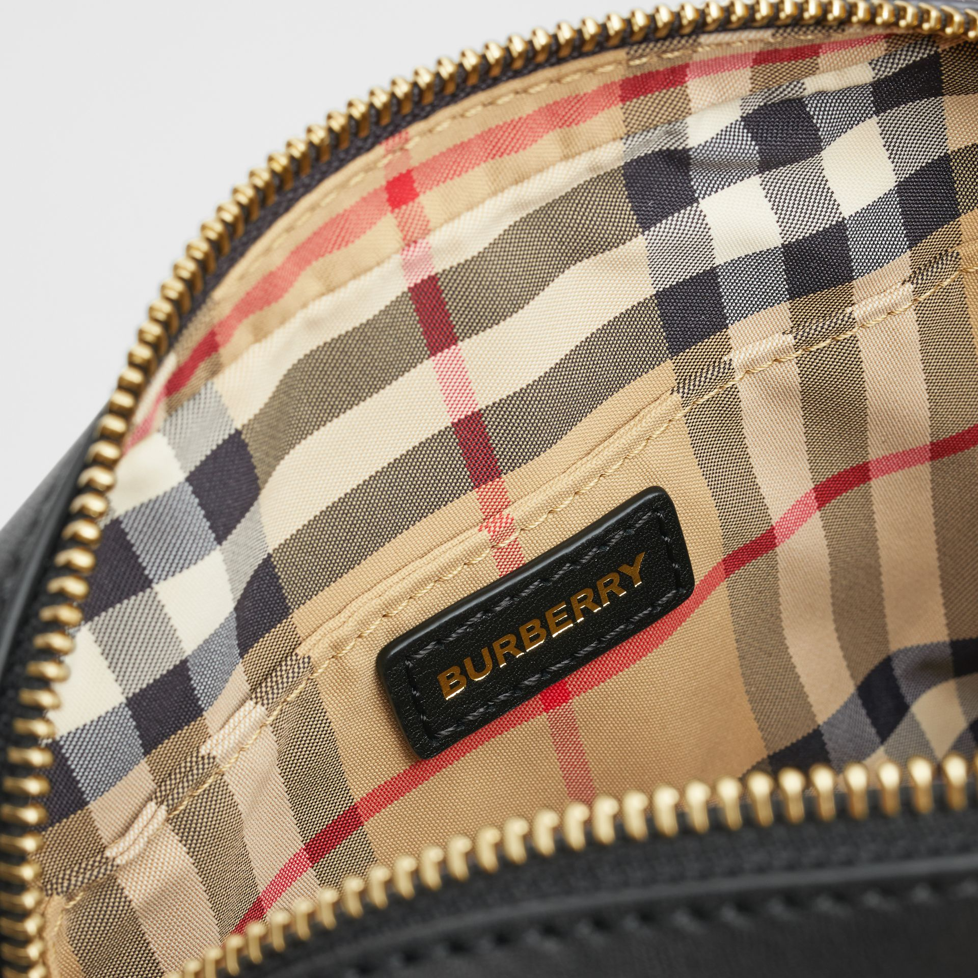 Vintage Check and Studded Leather Bum Bag in Black - Children | Burberry Hong Kong S.A.R - gallery image 3