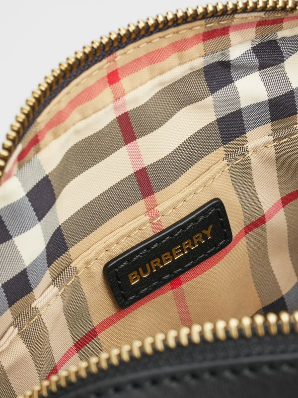 Vintage Check and Studded Leather Bum Bag in Black - Children | Burberry Hong Kong S.A.R - cell image 3