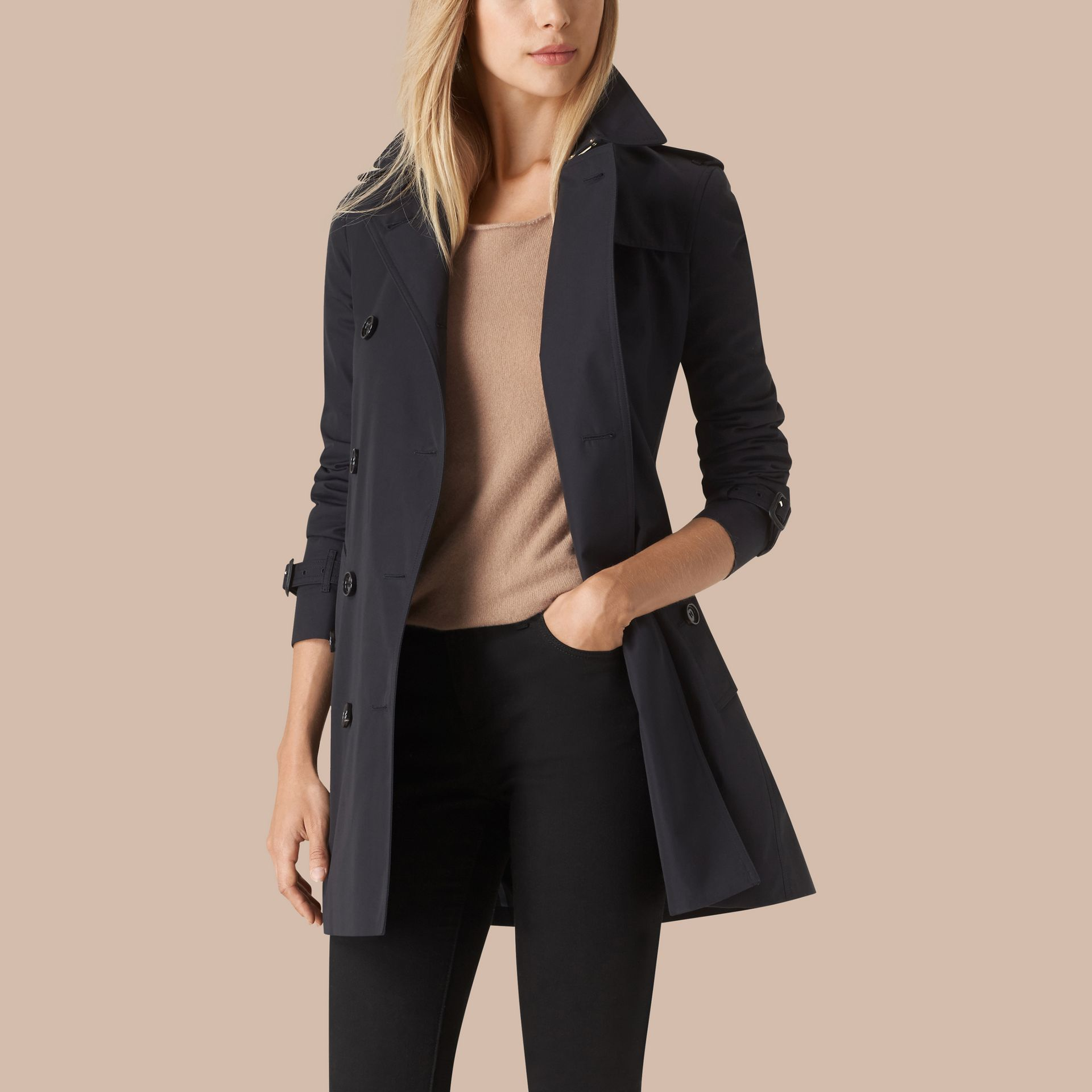 Marine Trench-coat en gabardine de coton - photo de la galerie 3