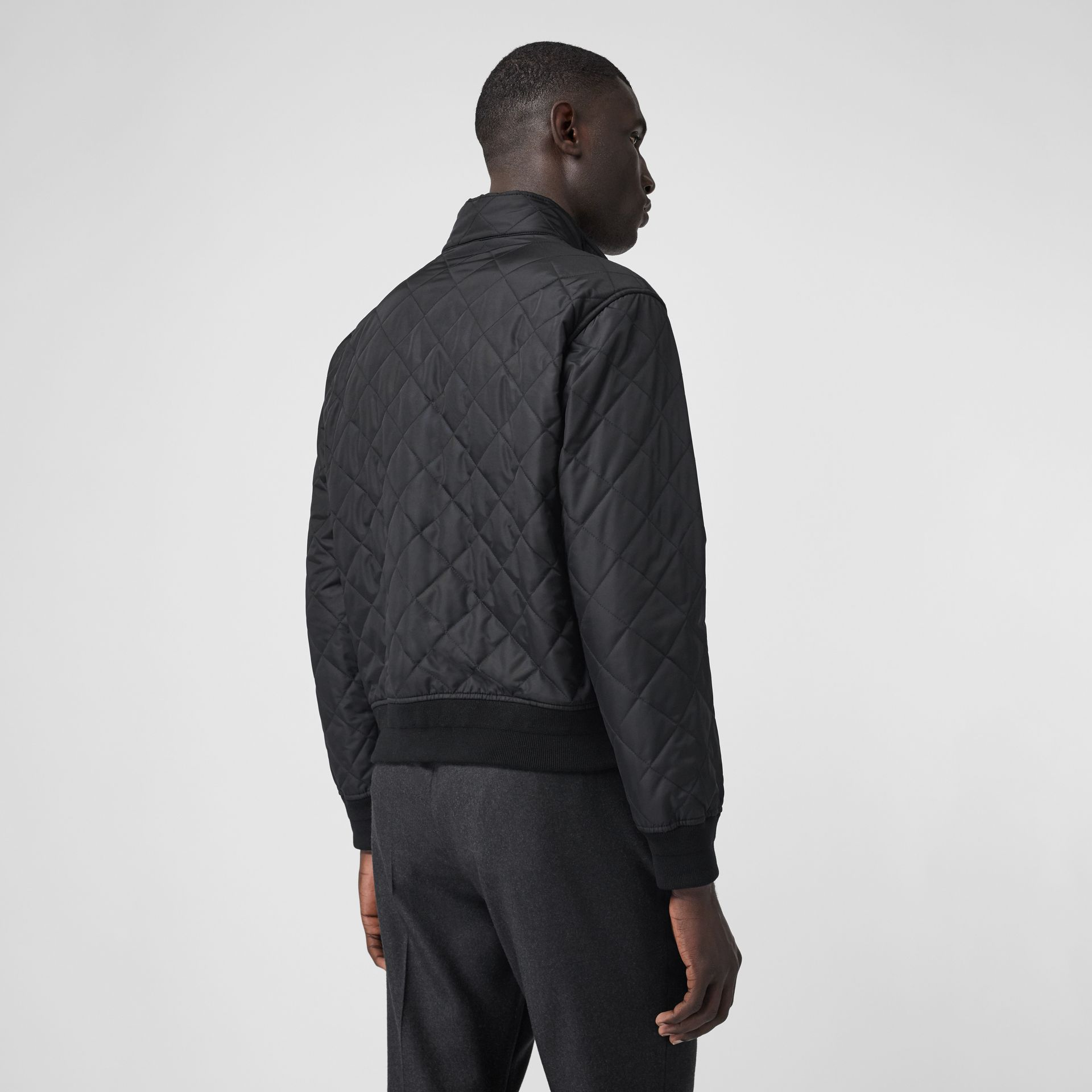 Diamond Quilted Thermoregulated Jacket in Black - Men | Burberry - gallery image 2
