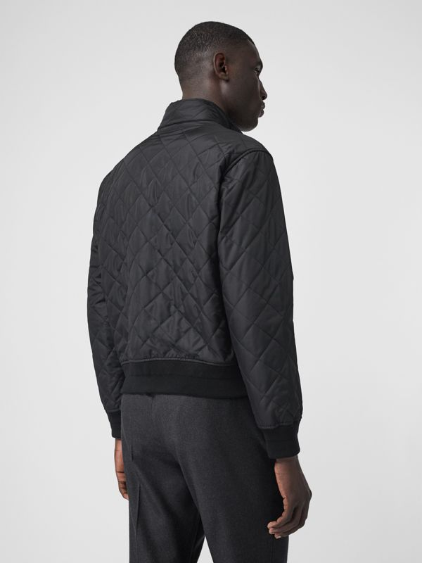 Diamond Quilted Thermoregulated Jacket in Black - Men | Burberry United States - cell image 2