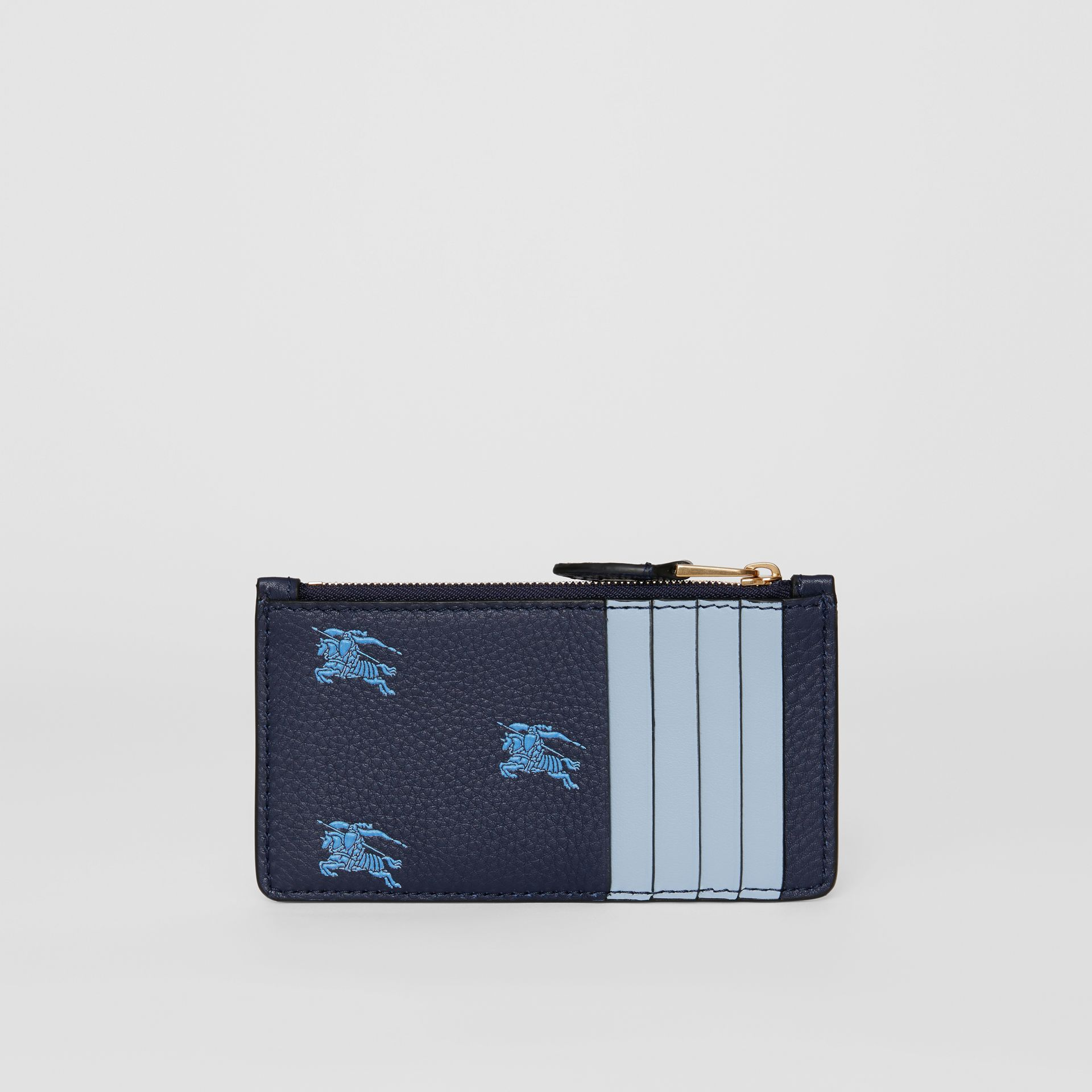 Equestrian Knight Leather Zip Card Case in Regency Blue - Women | Burberry - gallery image 3