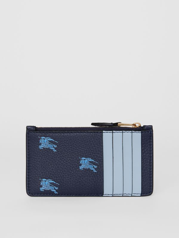 Equestrian Knight Leather Zip Card Case in Regency Blue - Women | Burberry - cell image 3