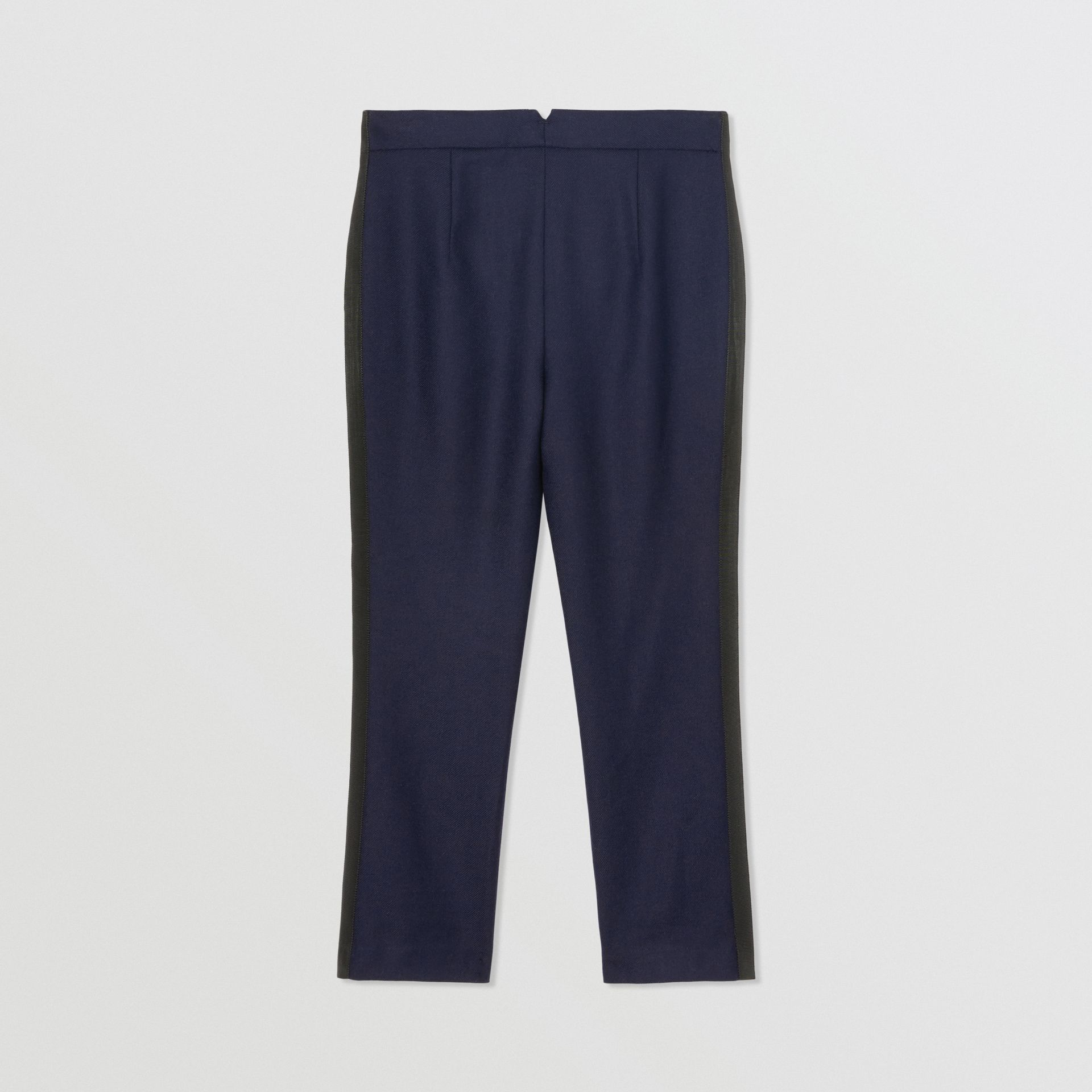 Stripe Detail Wool Twill Tailored Trousers in Navy - Girl | Burberry United States - gallery image 0