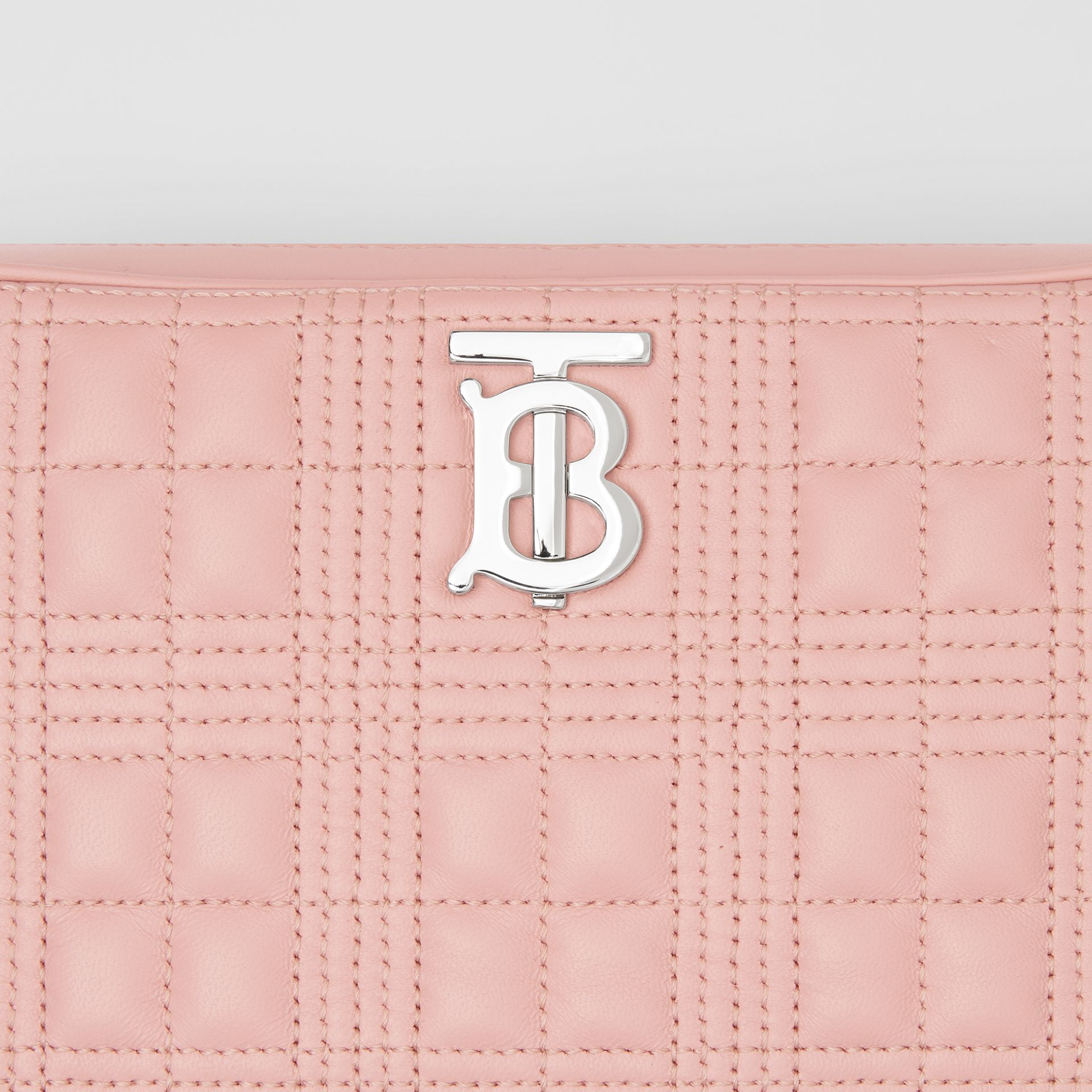 Quilted Lambskin Camera Bag in Blush Pink - Women | Burberry - gallery image 1