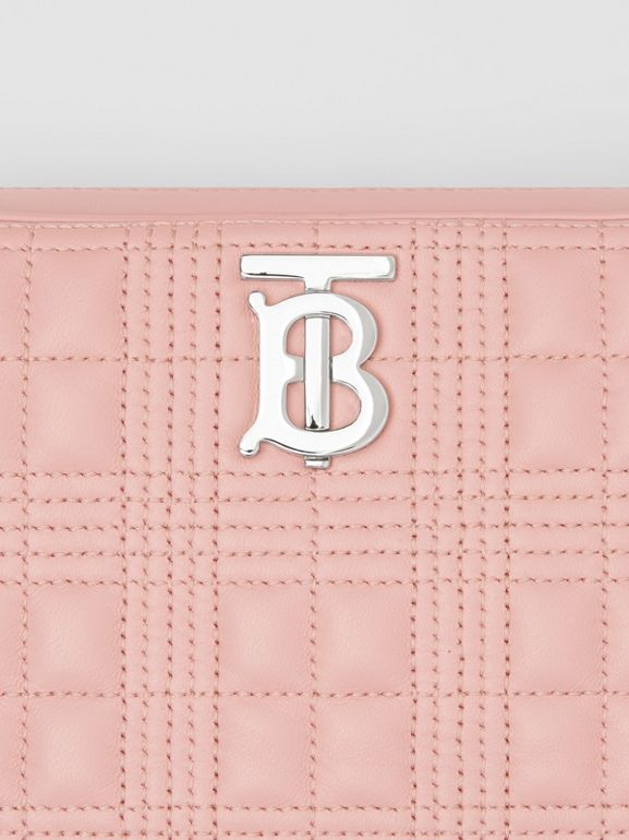 Quilted Lambskin Camera Bag in Blush Pink - Women | Burberry - cell image 1