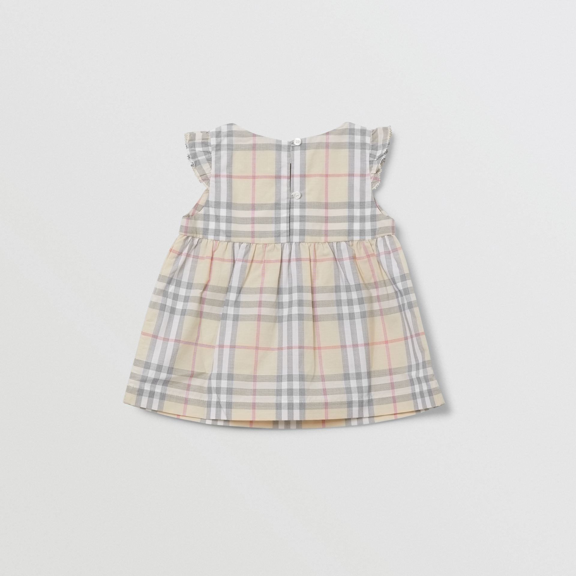 Ruffled Check Cotton Dress with Bloomers in Pale Stone - Children | Burberry - gallery image 4