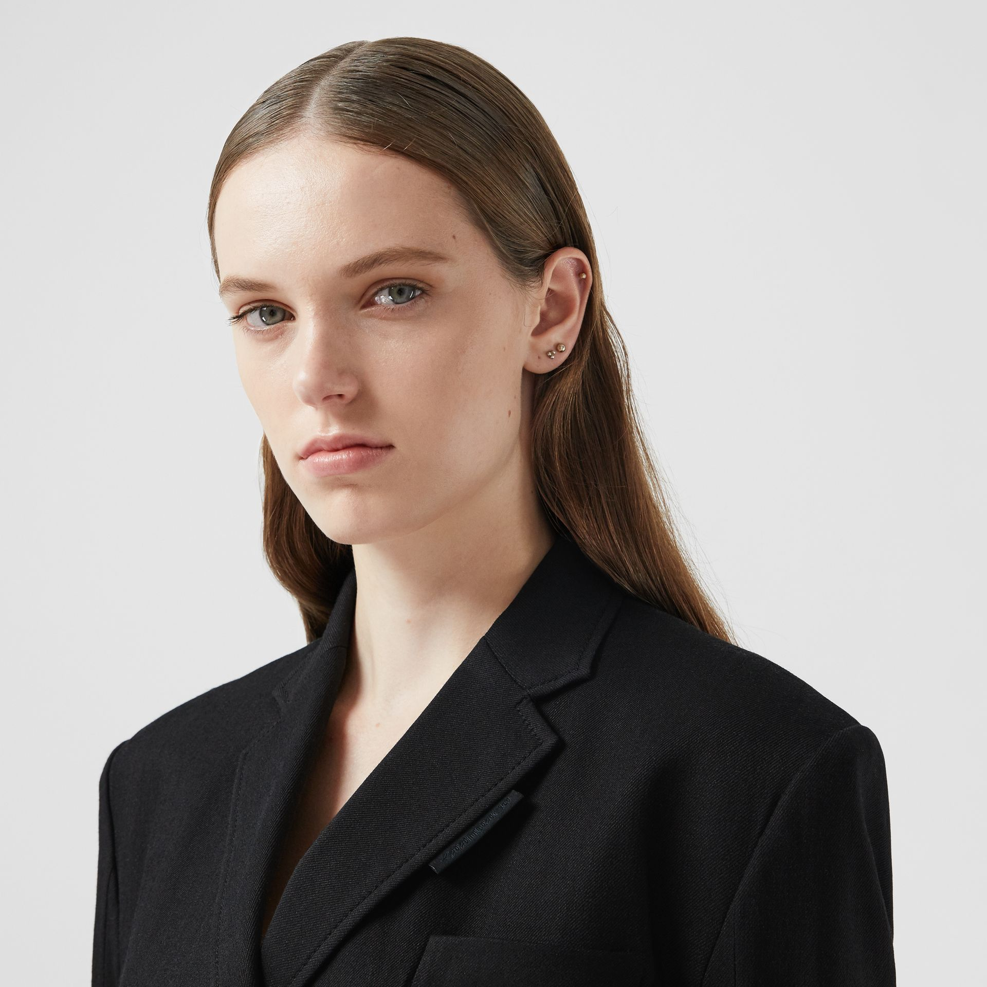Technical Twill Reconstructed Blazer in Black - Women | Burberry - gallery image 7