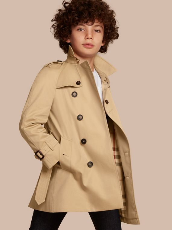 The Wiltshire – Heritage Trench Coat in Honey - Boy | Burberry Australia