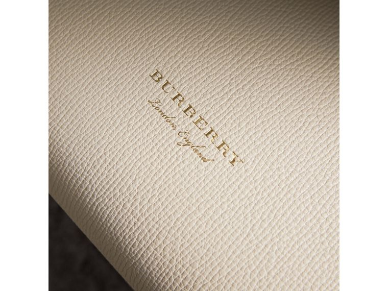 The Medium Banner in Leather with Tonal Appliqué in Limestone - Women | Burberry - cell image 1
